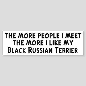 Black Russian Terrier: people Bumper Sticker