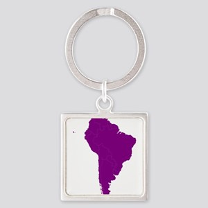 Continent of South America Keychains