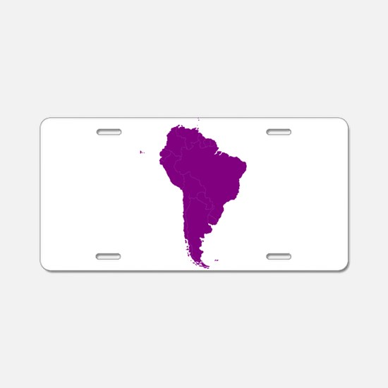 Continent of South America Aluminum License Plate