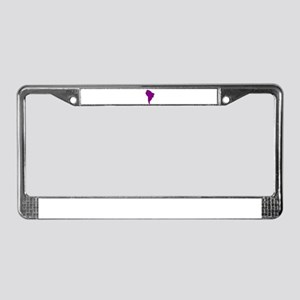 Continent of South America License Plate Frame