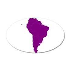 Continent of South America Wall Decal
