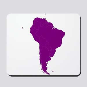 Continent of South America Mousepad
