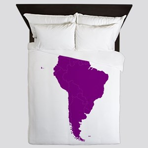 Continent of South America Queen Duvet