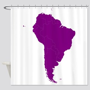 Continent of South America Shower Curtain