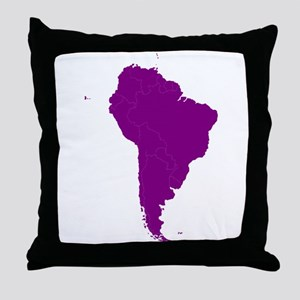 Continent of South America Throw Pillow