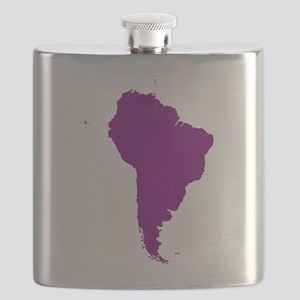Continent of South America Flask