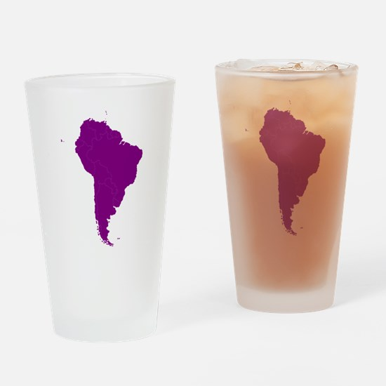 Continent of South America Drinking Glass