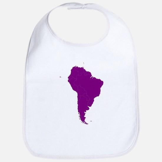 Continent of South America Bib
