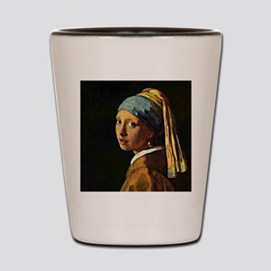 The Girl with a Pearl Earring, painting Shot Glass