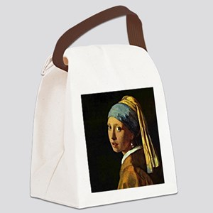 The Girl with a Pearl Earring, pa Canvas Lunch Bag