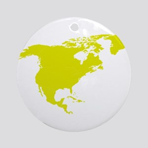 Continent of North America Ornament (Round)