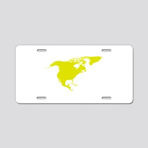 Continent of North America Aluminum License Plate