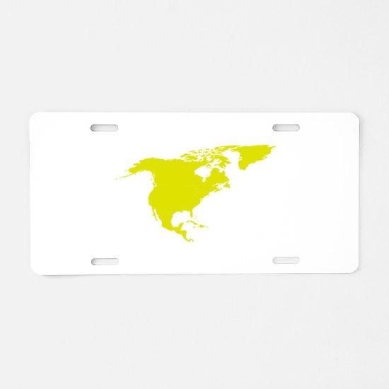 Continent of North America Aluminum License Plate