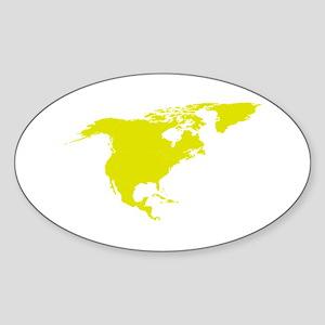 Continent of North America Sticker
