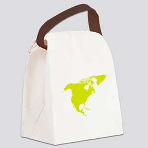Continent of North America Canvas Lunch Bag