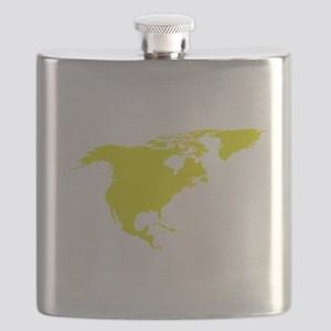Continent of North America Flask