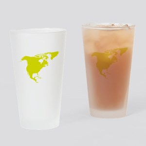 Continent of North America Drinking Glass