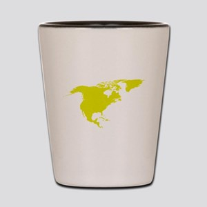 Continent of North America Shot Glass