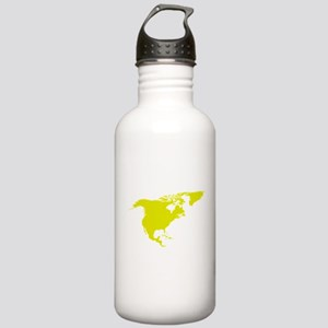 Continent of North America Water Bottle