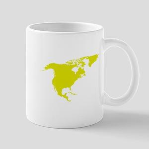 Continent of North America Mugs