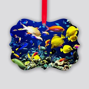 Colorful Aquatic Ocean Life Picture Ornament