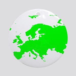 Continent of Europe Ornament (Round)