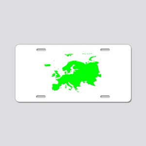 Continent of Europe Aluminum License Plate