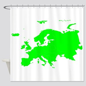 Continent of Europe Shower Curtain