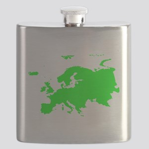 Continent of Europe Flask