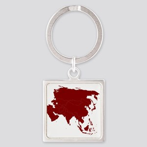 Continent of Asia Keychains