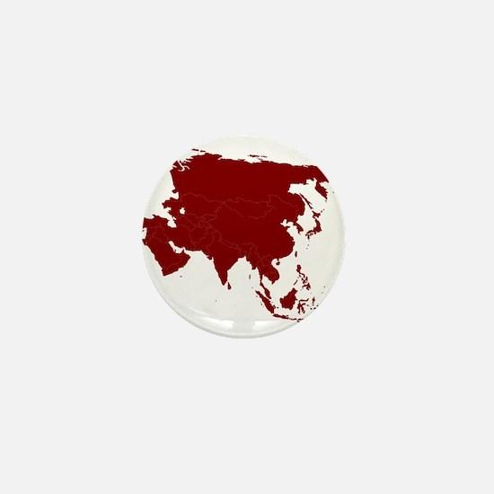 Continent of Asia Mini Button