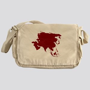 Continent of Asia Messenger Bag