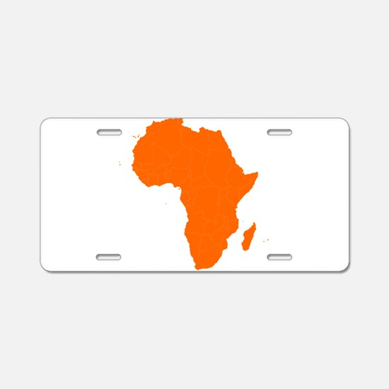 Continent of Africa Aluminum License Plate