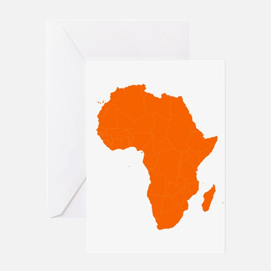 Continent of Africa Greeting Cards