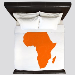Continent of Africa King Duvet