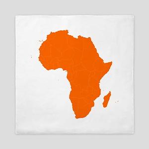 Continent of Africa Queen Duvet