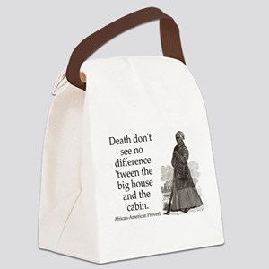 Death Dont See No Difference Canvas Lunch Bag