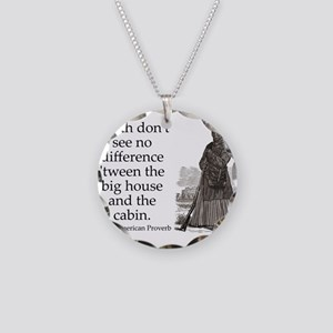 Death Dont See No Difference Necklace Circle Charm