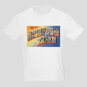 Hollywood Beach Florida (Front) Kids T-Shirt