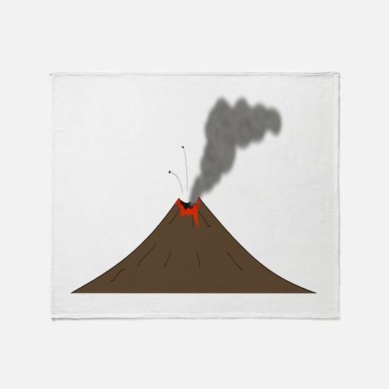 Erupting Volcano Throw Blanket