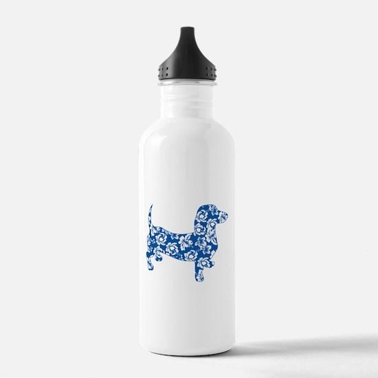 Hawaiian Dachshund Doxie Water Bottle