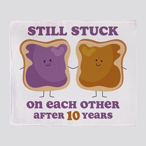 PBJ 10th Anniversary Throw Blanket