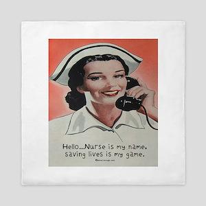 Nurse Is My Name Queen Duvet