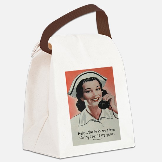 Nurse is my Name Canvas Lunch Bag