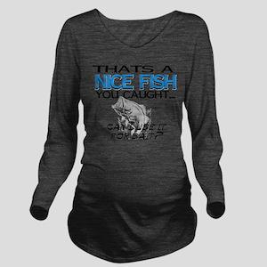 Nice Fish Long Sleeve Maternity T-Shirt