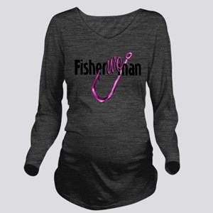 FisherWoman Long Sleeve Maternity T-Shirt