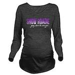 Snow Roadie Long Sleeve Maternity T-Shirt