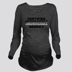 Certified Snowmobil Long Sleeve Maternity T-Shirt