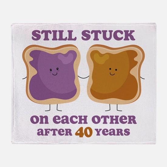 PBJ 40th Anniversary Throw Blanket