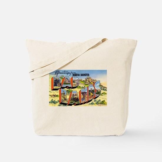 Badlands North Dakota Greetings Tote Bag